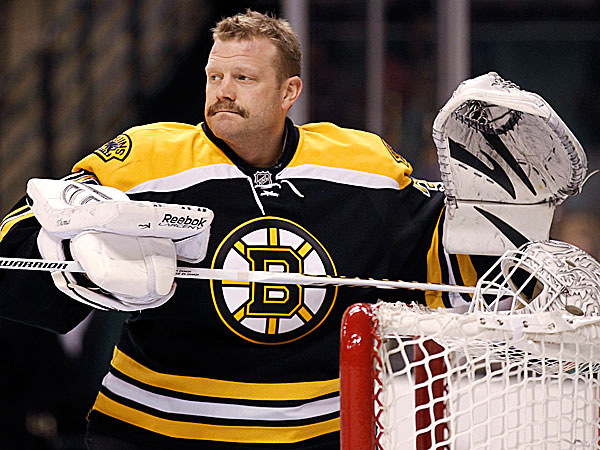 Goalie Tim Thomas. (Winslow Townson/AP)
