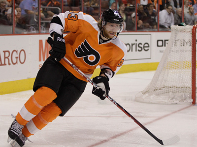 Jake Voracek was injured during a KHL game in Russia. (Matt Slocum/AP Photo)