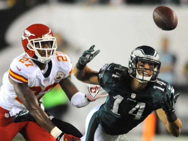 Eagles wide receiver Riley Cooper drops a pass. (Clem Murray/Staff Photographer)