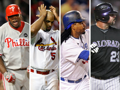 The Phillies, Cardinals, Dodgers, and Rockies are all in line to make the playoffs. (AP Photos)