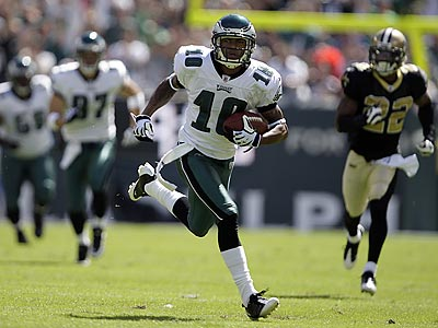 DeSean Jackson scored the Eagles´ first touchdown of the game on a 71-yard pass play. (David Maialetti/Staff Photographer)