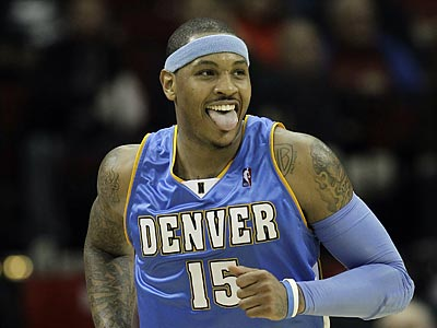 The Sixers could be contacting the Nuggets about acquiring Carmelo Anthony. ( AP Photo / David J. Phillip )