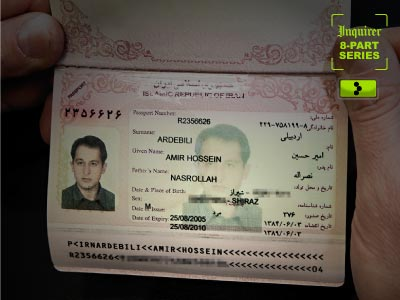 Iranian arms broker Amir Ardebili carried his passport with him to Tbilisi, Georgia – it was his first trip out of his home country. (David M Warren / Staff Photographer)