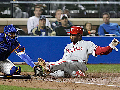 Domonic Brown went 3-for-5 with an RBi in the Phillies´ 16-1 win over the Mets. (Frank Franklin II/AP)