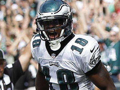 Jeremy Maclin reacts after scoring a touchdown in the second half against the Ravens. (Mel Evans/AP)