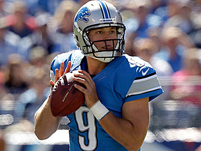 Matt Stafford and the Lions will face the Eagles on Sunday at the Linc. (Wade Payne/AP)