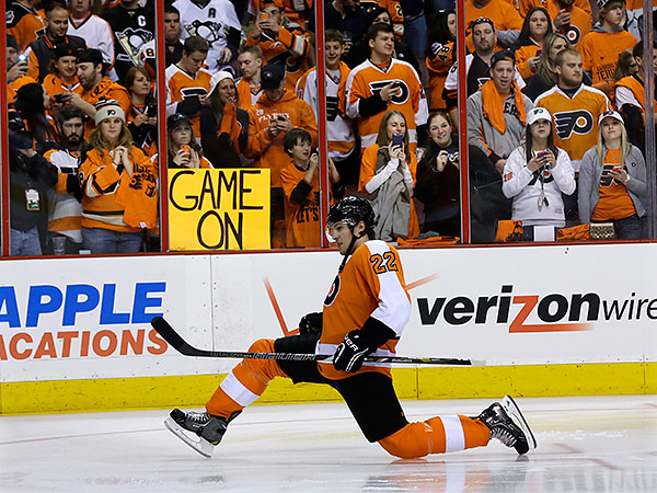 Flyers fans are excited for the start of the new season. (Mel Evans/AP file photo)