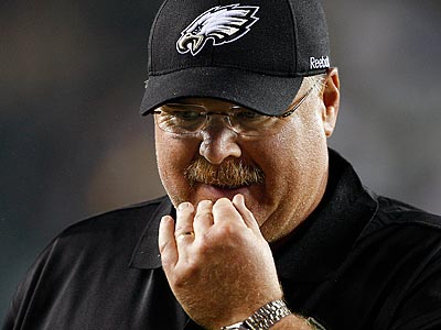 "Andy Reid said Sunday´s game is ""not about Donovan [McNabb] or Andy Reid or Michael Vick."" (David Maialetti/Staff file photo)"
