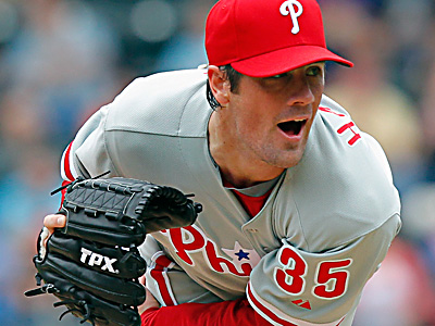 Cole Hamels is expected to begin a throwing program in three to four weeks, according to the Phillies. (Paul J. Bereswill/AP)
