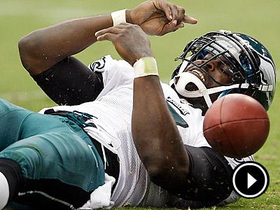 Eagles quarterback Michael Vick has struggled to stay on his feet this season. (Yong Kim/Staff Photographer)