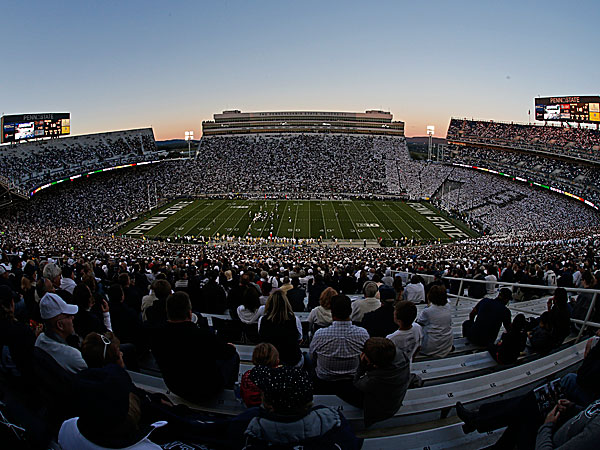 Penn State fans watch a game at Beaver Stadium. (Gene J. Puskar/AP)