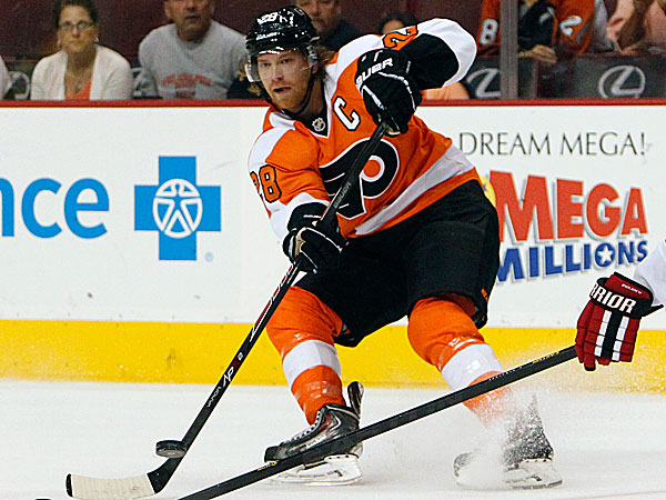 Flyers captain Claude Giroux. (Ron Cortes/Staff Photographer)