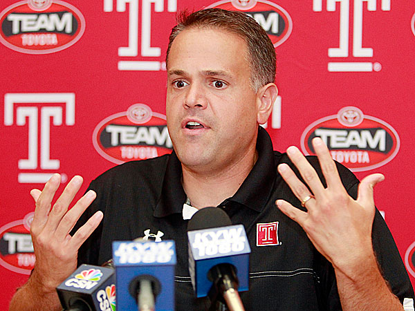 Temple head coach Matt Rhule. (Akira Suwa/Staff Photographer)