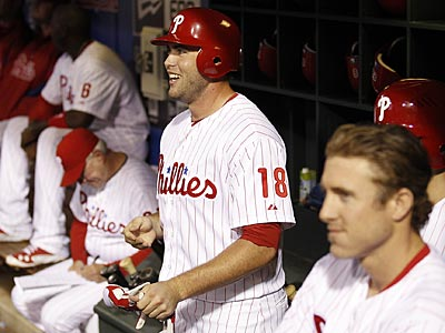 The Phillies´ bench gave rookie Darin Ruf the silent treatment after his first major-league home run. (Yong Kim/Staff Photographer)