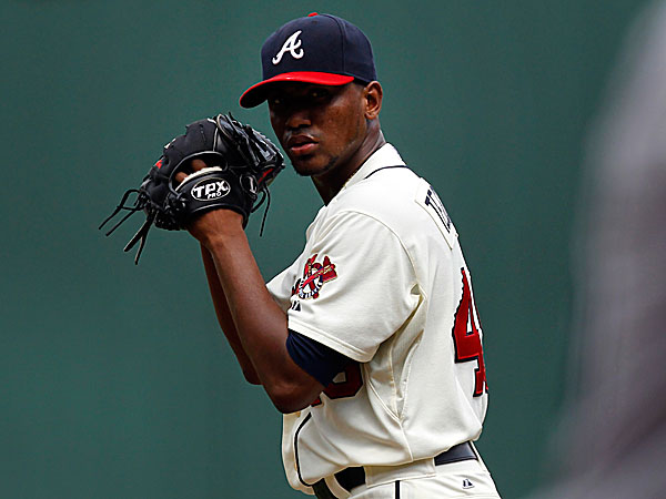 Braves pitcher Julio Teheran. (Butch Dill/AP)