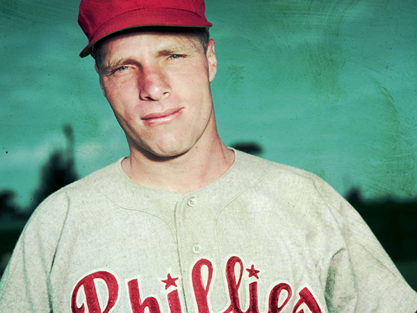 Hall of Fame Phillies OF Richie Ashburn.