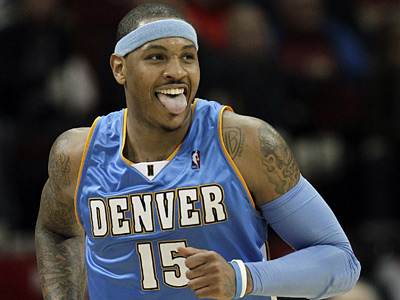 The Sixers are making a play to acquire Carmelo Anthony from the Denver Nuggets, according to a source. (AP Photo/David J. Phillip, File)