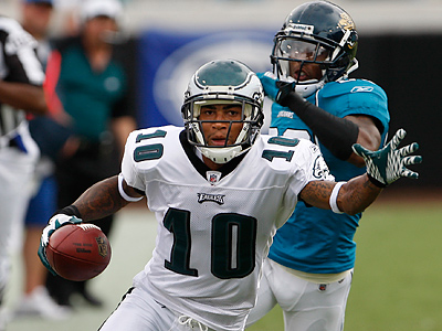 DeSean Jackson had one touchdown and 153 yards receiving against the Jaguars. (Ron Cortes / Staff Photographer)