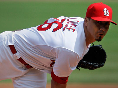 Cardinals pitcher Kyle Lohse likely wouldn´t start until Game 3 or 4 of a possible Phillies-Cardinals series. (Tom Gannam/AP)