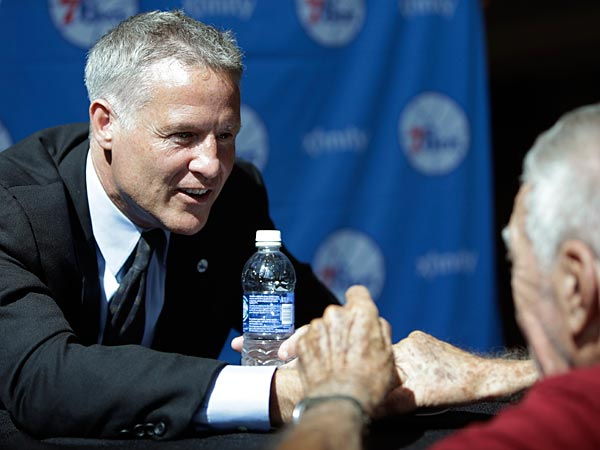 Philadelphia 76ers incoming head coach Brett Brown is open to all options, when it comes to his coaching staff. (AP Photo/Matt Rourke)