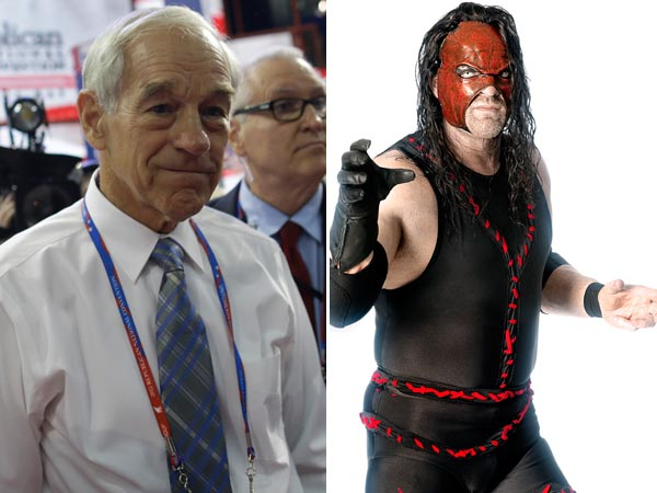 Ron Paul (left) and Kane. (Charles Dharapak/AP) (Forbes)