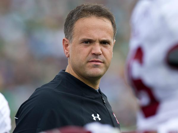 Temple head coach Matt Rhule. (Photo by Barbara Johnston/University of Notre Dame)