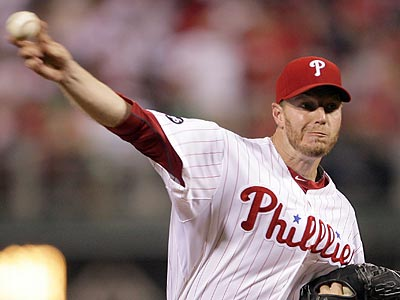 Roy Halladay will take the mound tonight for the Phillies, weather permitting.  (Yong Kim / Staff Photographer)