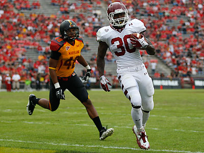 Bernard Pierce ran for a program-record five touchdowns in a 31-point victory at Maryland. (Patrick Semansky/AP)