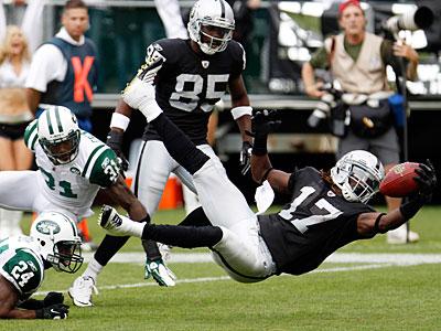 Wide receiver Denarius Moore had a 23-yard rushing touchdown in Week 3. (Paul Sakuma/AP)