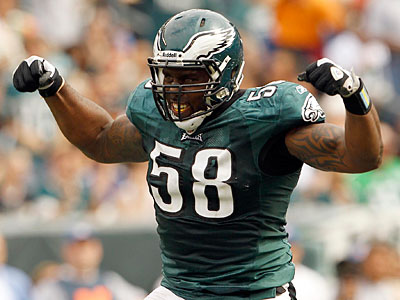 Trent Cole and the Eagles´ defense are second in the NFL with 12 sacks. (Yong Kim/Staff Photographer)