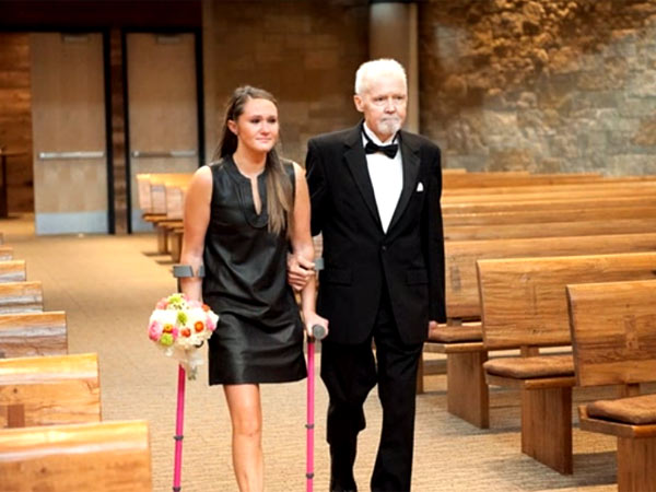 A dying father walks his daughter down the aisle.