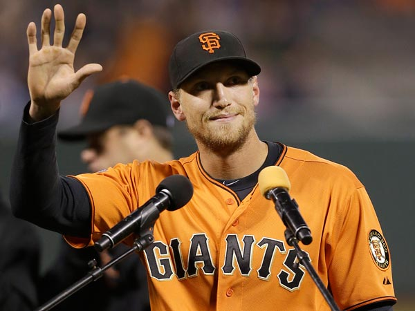 Hunter Pence. (Jeff Chiu/AP)