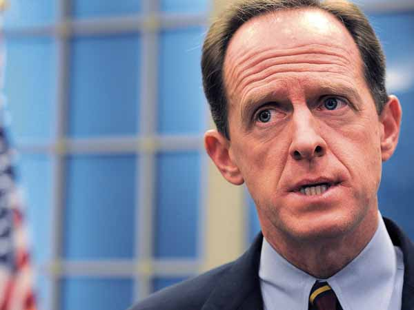 Sen. Pat Toomey (R., Pa.), was one of seven Senate Republicans to vote to advance the bill earlier this week. (File Photo / Staff)