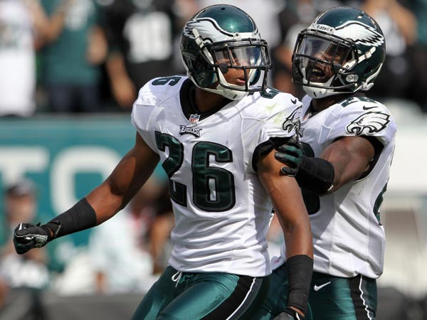 Eagles defensive backs Cary Williams and Earl Wolff. (Yong Kim/Staff Photographer)