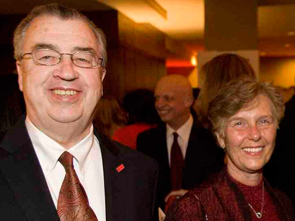Cooper University Health System CEO and President, John P. Sheridan, and his wife, Joyce, at a fundraiser in 2011. (FILE)