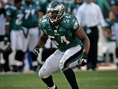 Jeremiah Trotter has joined the Eagles for a third time. The team signed him to a one-year deal today. (File photo)