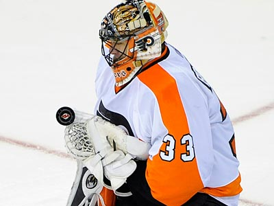 Brian Boucher will start in goal tonight for the Flyers. (Bill Kostroun/AP file photo)