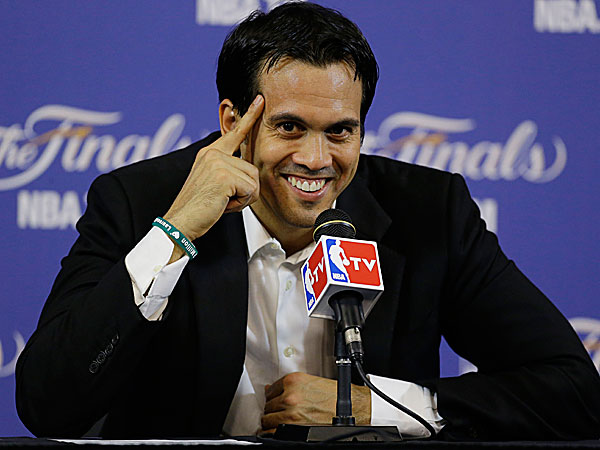Heat head coach Erik Spoelstra. (Wilfredo Lee/AP)