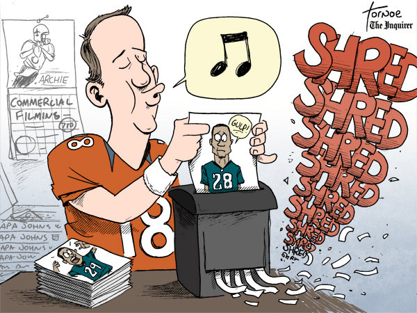 Historically, Peyton Manning has the Eagles' number