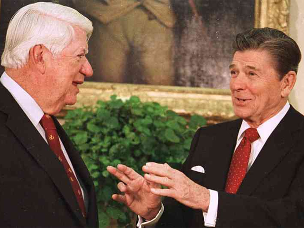 "President Reagan and House Speaker Thomas P. ""Tip"" O´Neill were able to forge a bond — something that has eluded President Obama and John Boehner."