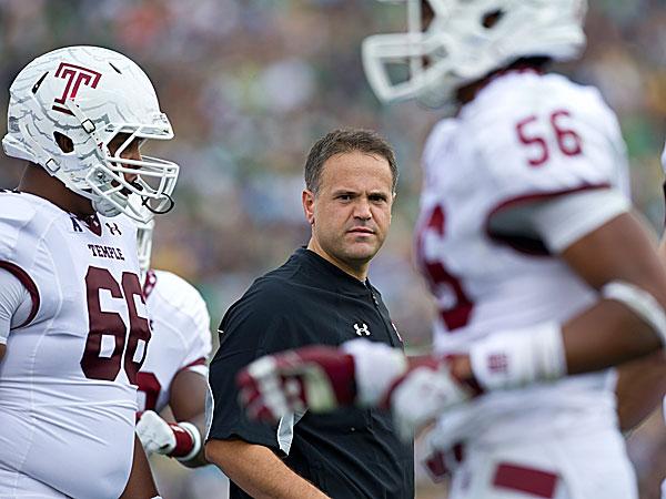 Temple head coach Matt Rhule. (Barbara Johnston/University of Notre Dame)