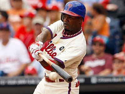 Jimmy Rollins pulled the ball 40.5 percent of the time when batting left-handed last year. (Yong Kim/Staff File Photo)