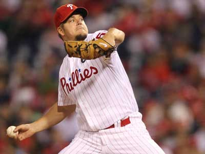 Joe Blanton has made the Phillies postseason roster. (David M. Warren / Staff Photographer)