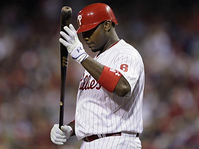 Ryan Howard had career lows in hitting, on-base percentage and slugging percentage in 2012. (Matt Slocum/AP)