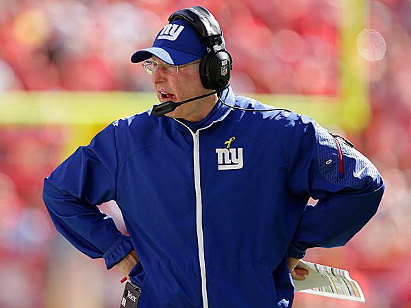 Giants head coach Tom Coughlin. (Charlie Riedel/AP)