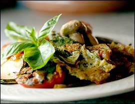 The chef´s daily selection of vegetable antipasta.                                      (Bonnie Weller / Inquirer)