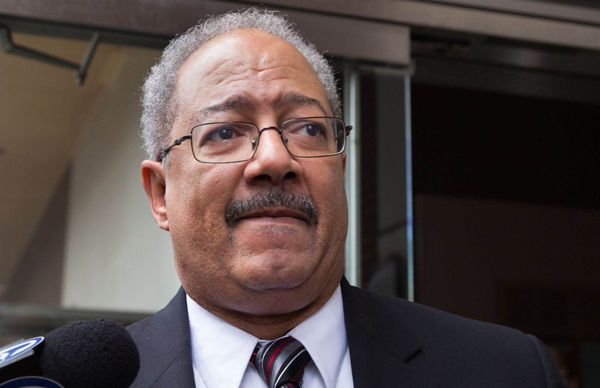 Former Congressman Chaka Fattah exits federal court after being sentenced to 10 years in prison, in Philadelphia, on December 12, 2016. JESSICA GRIFFIN / Staff Photographer