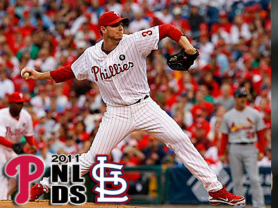 Roy Halladay will start Game 5 of the NLDS against Cardinals ace Chris Carpenter. (Yong Kim/Staff Photographer)