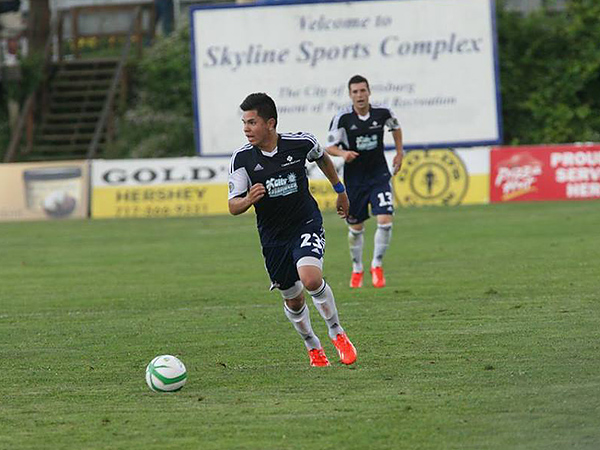 Philadelphia Union academy product Cristhián Hernandez was loaned to the Harrisburg City Islanders this year as part of the affiliation deal between Major League Soccer and the United Soccer Leagues. (Photo courtesy of the USL)