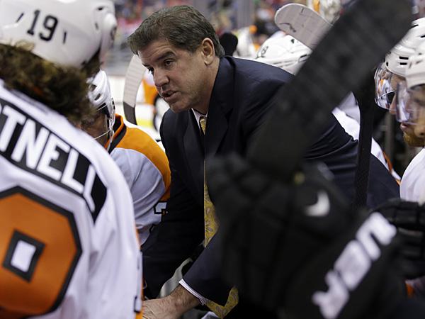 Flyers coach Peter Laviolette. (/Alex BrandonAP)